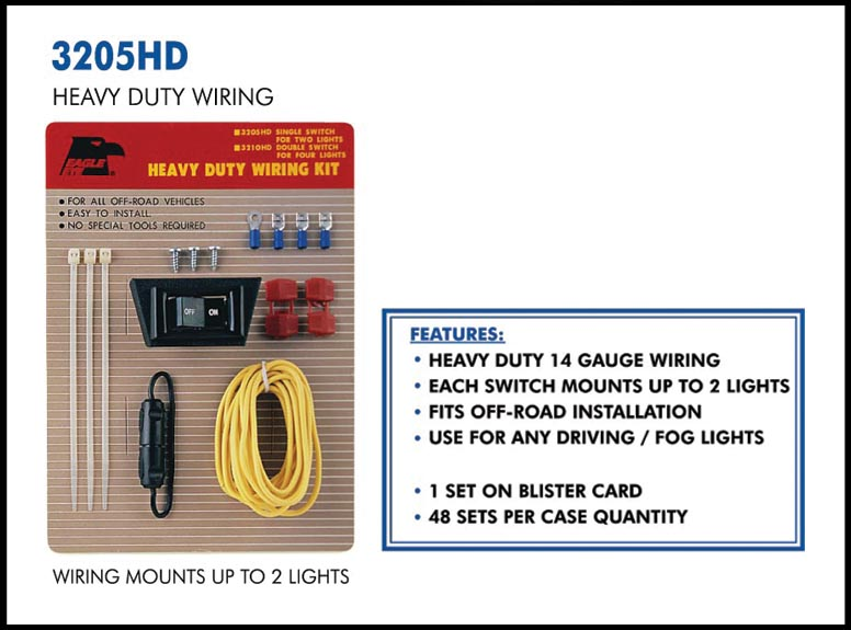 3205HD web wiring kit eagle eye lights