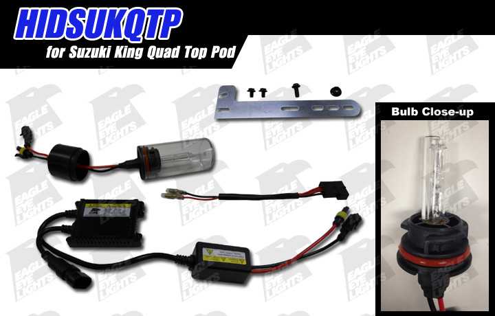 2005-2007 suzuki king quad top pod hid kit [hidsukqtp]